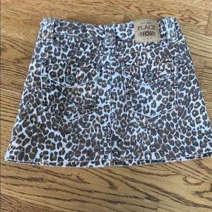 Cordouroy Animal/Leopard Print Skirt
